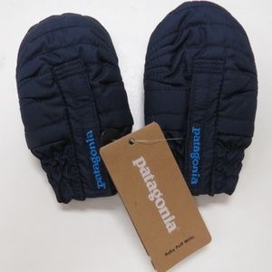 Patagonia Baby Puff Mittens 12M Navy Blue New NWT